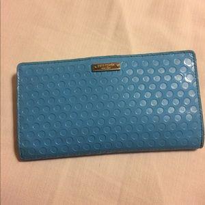 Kate Spade New York wallet blue bird egg blue.